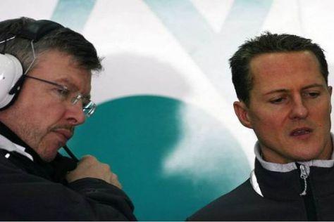 Leidensgenossen: Ross Brawn und Schumacher vermissen den Erfolg