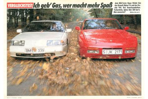 Porsche 944 Renault Alpine V6