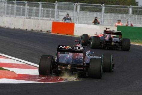 Der (Rand-) Stein des Anstoßes: In Kurve 16 sitzen die Formel-1-Autos immer auf