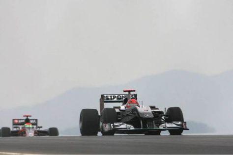Michael Schumacher darf seinen neunten Startplatz in Yeongam behalten