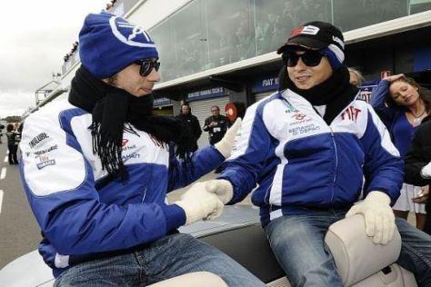 Valentino Rossi und Jorge Lorenzo werden Mütze und Schal nicht brauchen