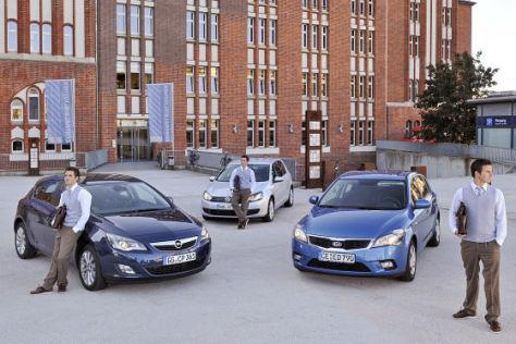 Kia C'eed Opel Astra VW Golf