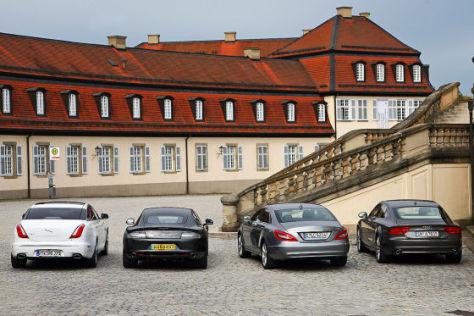 Jaguar XJ Audi A7 Aston Martin Rapide Mercedes CLS