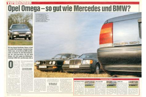 Opel Omega, BMW 520i, Mercedes 200
