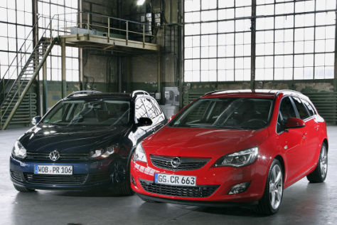 Opel Astra Sports Tourer VW Golf Variant