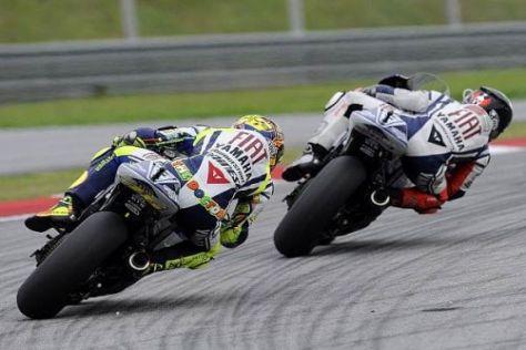 Training in Portugal. Jorge Lorenzo war wieder einmal vor Valentino Rossi