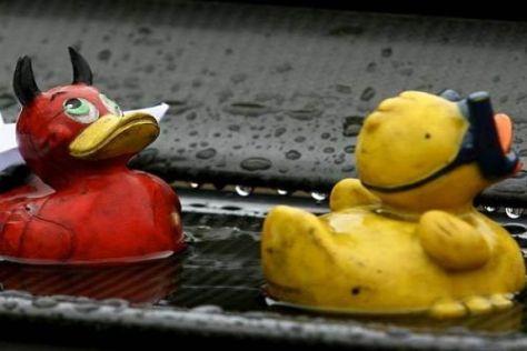 In Estoril trauten sich nur bewährte Schwimmkörper in den heftigen Regen