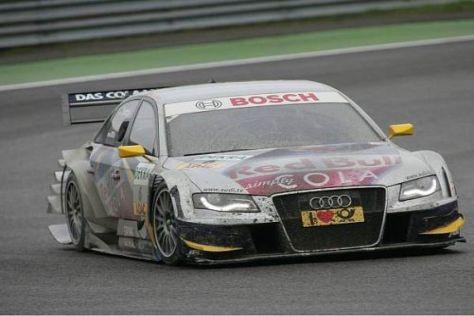 Martin Tomczyk und seine DTM-Rivalen hatten mit dem Schlamm zu kämpfen