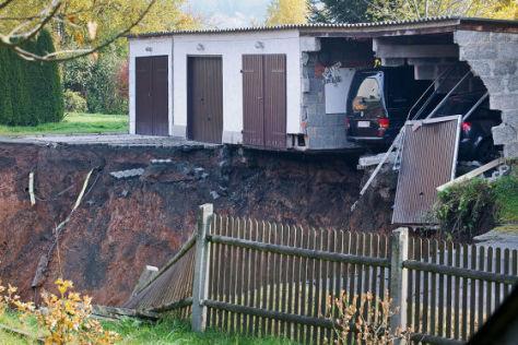 Erdrutsch in thüringischem Wohngebiet