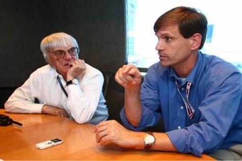 Formel-1-Boss Bernie Ecclestone und Austin-Promoter Tavo Hellmund