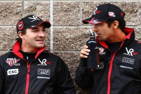 Nicht unbedingt die besten Freunde: Timo Glock und Lucas di Grassi