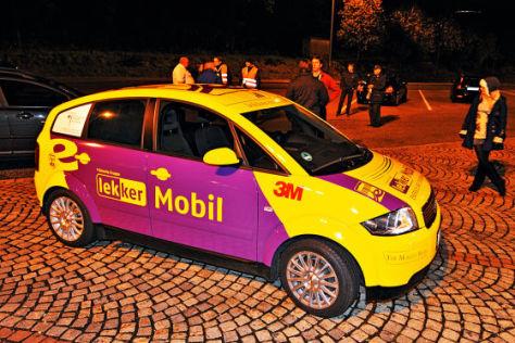 E-Auto auf Rekordfahrt