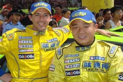 Liu Chao Dong und Anthony McLoughlin fahren in Wales im Stobart-Ford