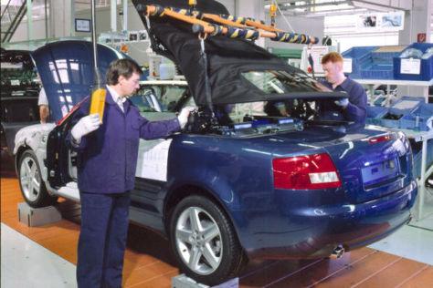 Audi A4 Cabrio Dacheinbau