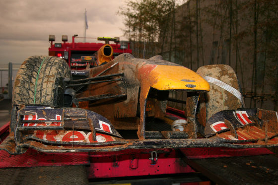 Mark Webbers Unfall-Auto