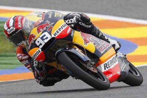 Startplatz eins in Valencia: Marc Márquez war schneller als Nicolás Terol