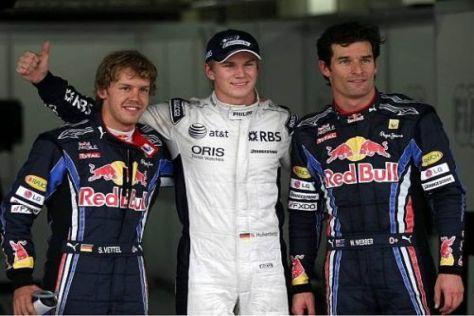 Sebastian Vettel und Mark Webber strahlen: Doch einer strahlt noch mehr!