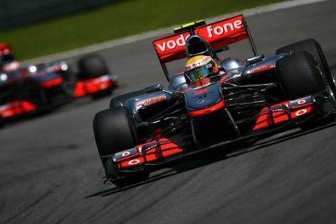 Lewis Hamilton hat noch Titelchancen, Jenson Button ist aus dem Rennen