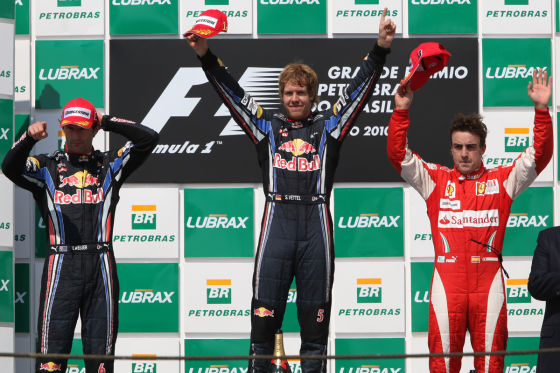 Podium GP Brasilien