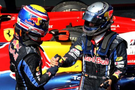 Webber gratuliert Vettel in Brasilien