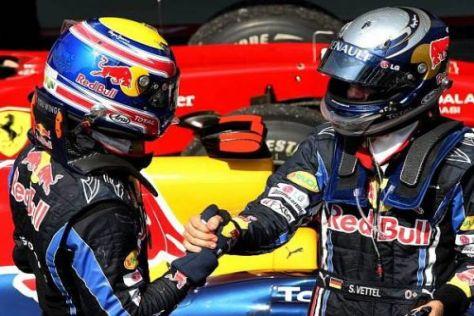 Zwei Kollegen, ein Ziel: Mark Webber und Sebastian Vettel wollen den Titel