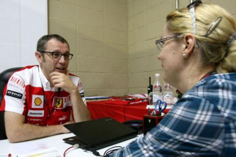Stefano Domenicali im Gespräch mit Bianca Garloff