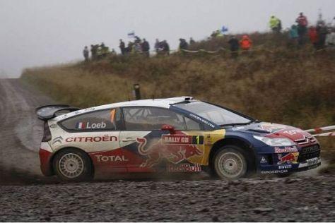 Auf zur Schlammschlacht: Sébastien Loeb bei der Wales-Rallye 2009