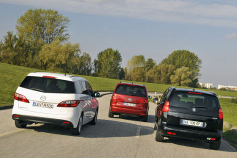 Mazda5 Peugeot 5008 VW Touran