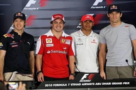 Nur einer dieser vier Herren wird auch am Sonntagabend noch lächeln...
