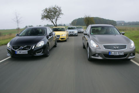 Infiniti G37x Volvo S60 T6 by Heico Sportiv Audi S4 BMW 335i Mercedes C350 CGI