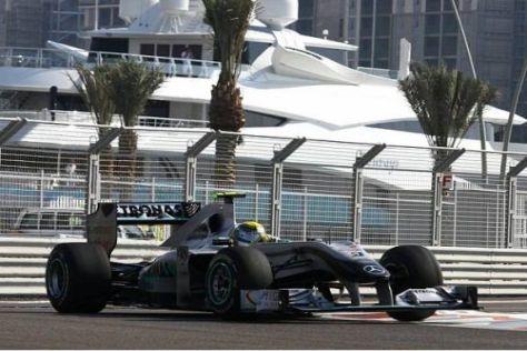 Nico Rosberg kämpfte am Freitag mit dem nicht funktionierenden F-Schacht