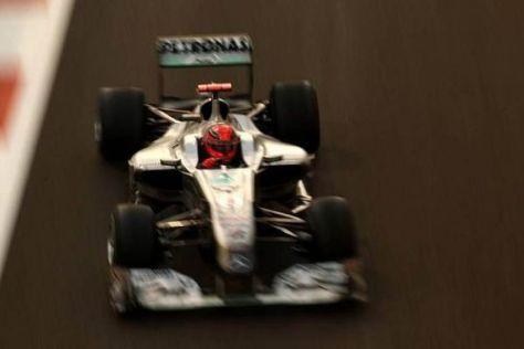 Michael Schumacher qualifizierte sich knapp vor seinem Teamkollegen