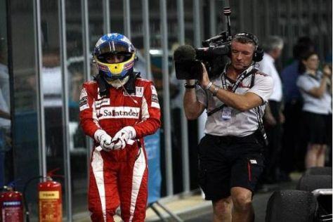 Enttäuscht, aber ein fairer Verlierer: Fernando Alonso in Abu Dhabi