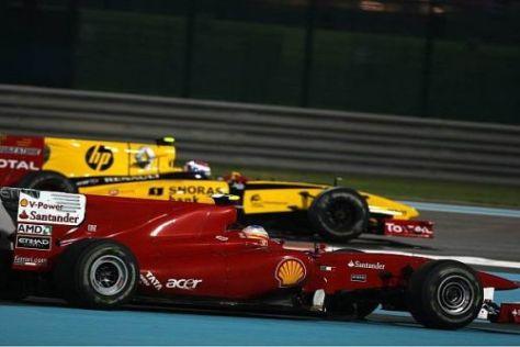 Fernando Alonso probierte alles, kam aber nicht an Vitaly Petrov vorbei