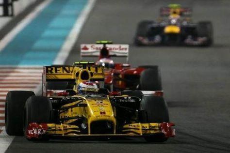 Renault spielte im Titelfinale die Hauptrolle: Petrov vor Alonso und Webber