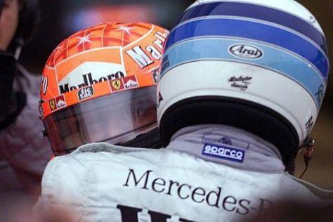 Zwischen Mika Häkkinen und Michael Schumacher ist alles in Ordnung