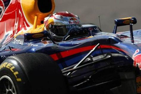 Sebastian Vettel war wenige Tage nach dem Titelgewinn wieder im Testeinsatz