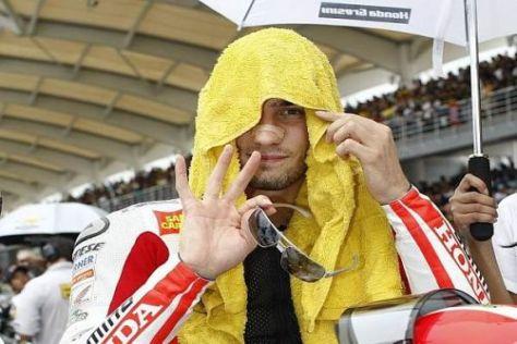 Marco Simoncelli zog sich bei der Monza-Rallye beachtlich aus der Affäre