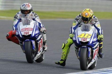 Jorge Lorenzo und Valentino Rossi haben sich zahlreiche enge Duelle geliefert