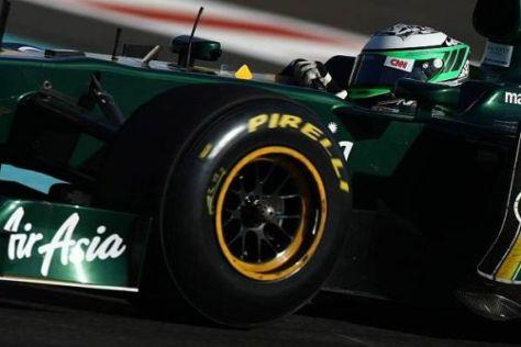 Heikki Kovalainen hat für Lotus die ersten Pirelli-Tests in Abu Dhabi absolviert