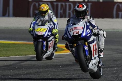 Ende einer Ära: Nach 2010 trennt sich das Fahrergespann Lorenzo und Rossi