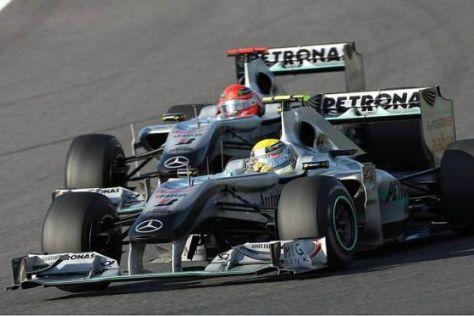 Nico Rosberg und Michael Schumacher haben sich 2010 einige Duelle geliefert