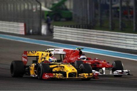 Fernando Alonso kam beim Saisonfinale in Abu Dhabi nicht an Vitaly Petrov vorbei