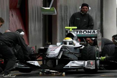 Das Training hat sich ausgezahlt: Mercedes stoppte 2010 am schnellsten