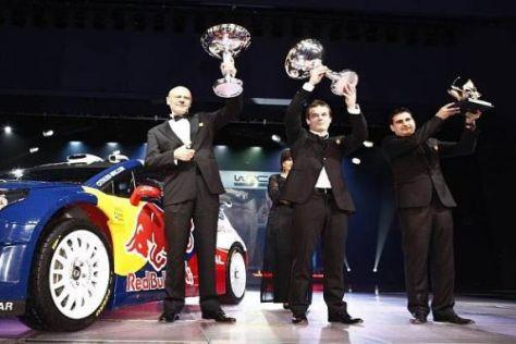 Sébastien Loeb nahm zum siebten Mal den WM-Pokal in Empfang
