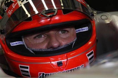Michael Schumacher genießt die Formel 1, will aber wieder ganz nach vorne