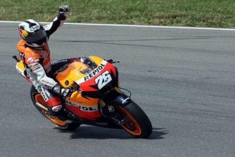 Vier Siege hat Dani Pedrosa in der MotoGP-Saison 2010 gefeiert
