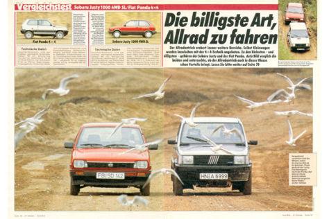 Fiat Panda 4x4 Subaru Justy 1000 4WD SL