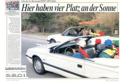 Chrylser Le Baron BMW 320i Cabrio