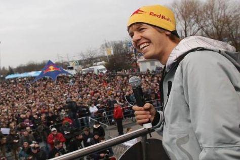 Sebastian Vettel genießt die Freude nach dem Titelgewinn, braucht aber auch Ruhe